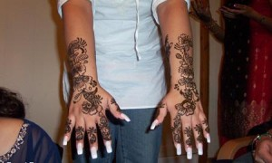 Arabic Mehndi Design for Double Hands