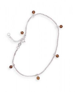Baltic Amber Bead Charm Anklet