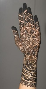 Henna Design for Inside Hand