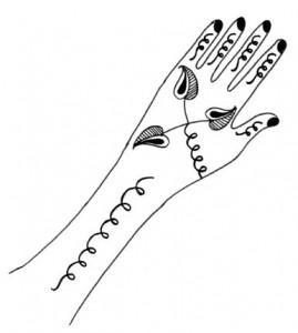 Cute Henna Designs on Paper Photo