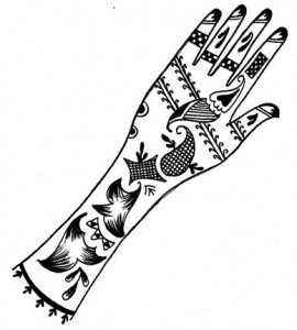 Pakistani Bridal Henna Designs on Paper