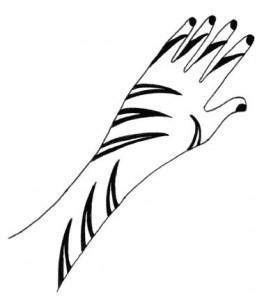 Beautiful Hand Henna Designs on Paper