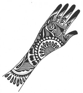 Henna Designs on Paper for Hand