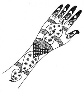 Henna Designs on Paper for Girl
