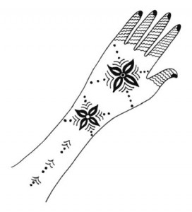 Henna Designs on Paper for Both Hands