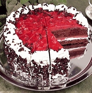 Black Forest Cake With Strawberry