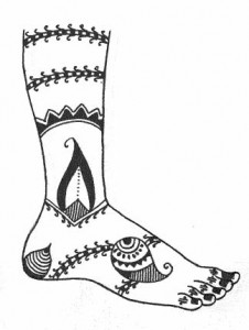 Henna Design Sketch on Paper 2011