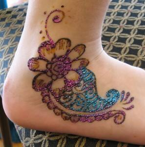 Foot Mehandi Design