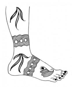 Mehndi Design Sketch on Paper for Both Foot