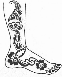 Wedding Mehndi Design Sketch on Paper