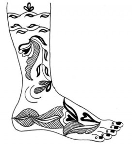 Mehndi Design Sketch on Paper 2011