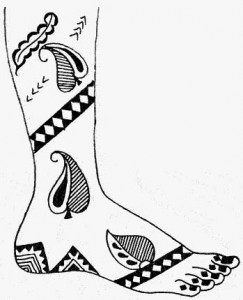 Mehndi Design Sketch on Papers For Wedding
