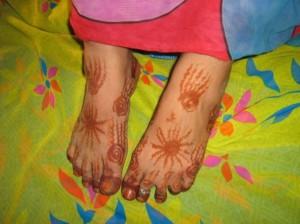 Pakistani Mehndi Design for Foot