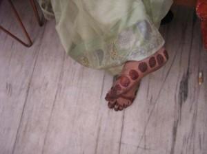 Mehndi Design for Outside Foot