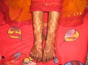 Wedding Mehndi Design For Foot