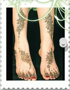 Mehndi Design for Both Foot