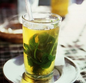 Glass of Green Tea With Mint