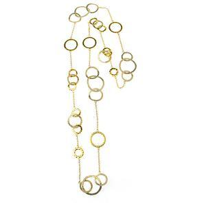Gold Plated Multi-Ring Necklace