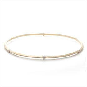 Gold Bevel Diamond Bangle