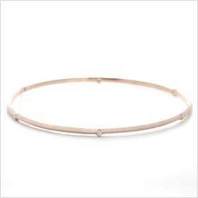 Rose Gold Bevel Diamond Bangle