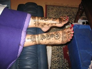 Beautiful Henna Design For Foot