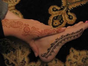Beautiful Foot Henna Design