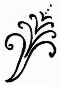 Pakistani Henna tattoo design sketch