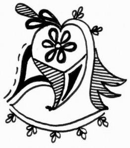 Beautiful Henna tattoo design sketch