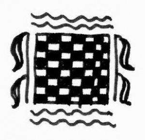 Henna tattoo design sketch