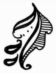 Henna tattoo design sketch for Arm