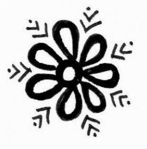 Arm Henna tattoo design on paper