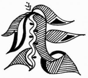 Beautiful Henna tattoo design on paper