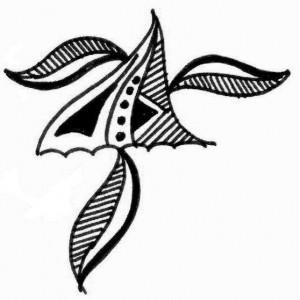 New Henna tattoo design on paper