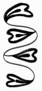 Henna tattoo design on paper