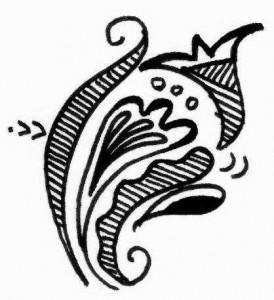 Henna tattoo design on paper 2011