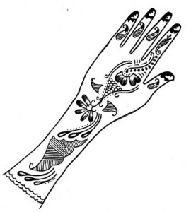 Henna Design on Paper  Pictures