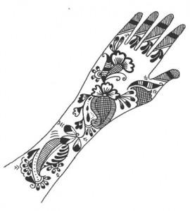 Henna Design on Paper