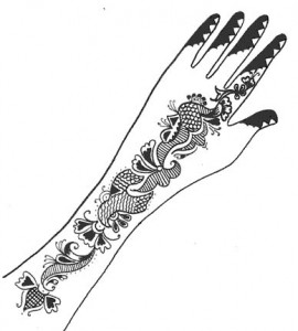 Henna Design on Paper for Girl