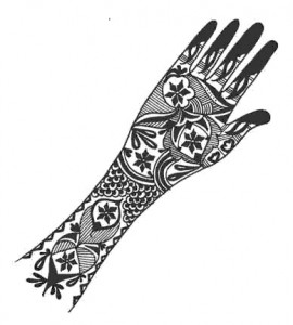 New Bridal Henna Design on Paper 2011