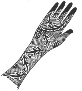 Pakistani Bridal Henna Design on Paper 2011
