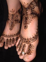 Indian Mehndi Styles For Foot