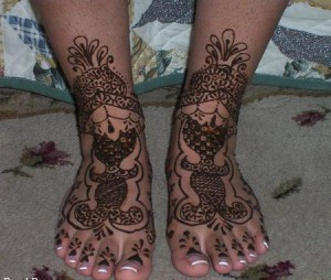 Indian Mehndi designs for foot