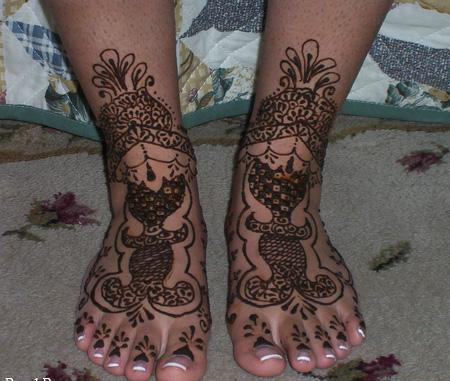 Indian Mehndi designs for foot - Mehndi Designs For Brides