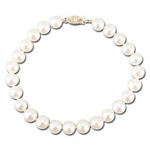 Large Freshwater Pearl Bead Bracelet with 14K Gold