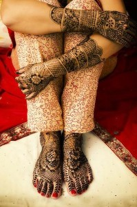 Pakistani Bridal Henna Design 2011