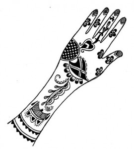 Henna Petterns for Inside Hand