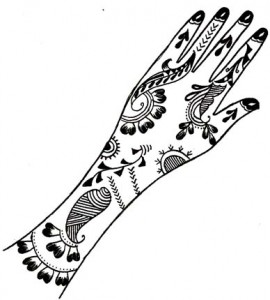 Henna Design on Paper For Wedding