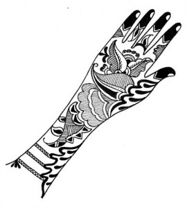 Cute Henna Design on Paper  Photo