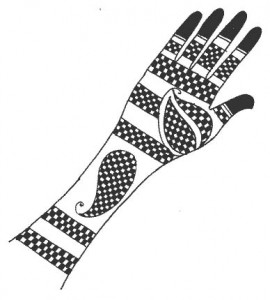 Pakistani Henna Design on Paper