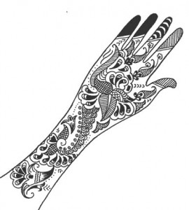 New Henna Design on Paper